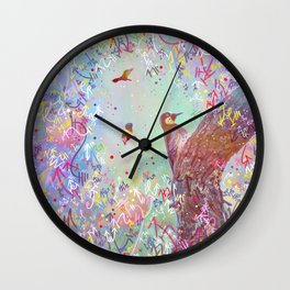 Curious Woodpecker and Friends Wall Clock