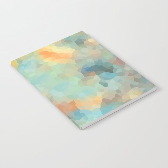 "Colored crystals . ""Sunbeams"" . Notebook"