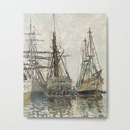Boats by Claude Monet, 1873 Metal Print