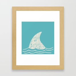 Beach Series Aqua - Shark Animal in the deep See Framed Art Print