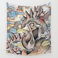 cock Wall Tapestries featuring Cock Your Gun, Son by cahill wessel