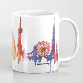 Rainbow Watercolour Monuments Coffee Mug