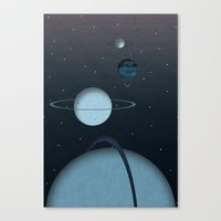 planets Canvas Prints featuring Planets by oldi