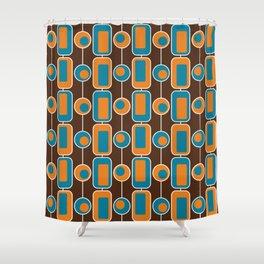 Orange Square Shower Curtain