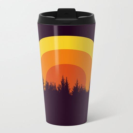 summer mountain Metal Travel Mug