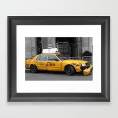 World War Z Taxi Cab Framed Art Print