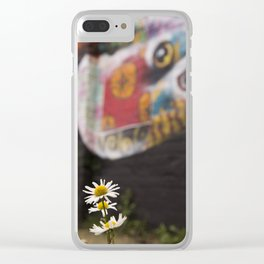 Grafitti and nature Clear iPhone Case