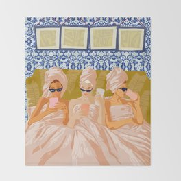 Ladies-Only Club #illustration #painting Throw Blanket