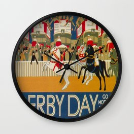 Vintage poster - Derby Day Wall Clock