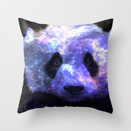 Galaxy Panda Space Colorful Throw Pillow