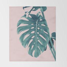 Monstera Delight #3 #tropical #decor #art #society6 Throw Blanket