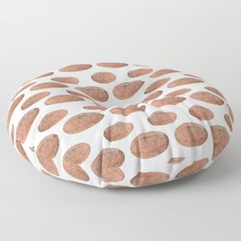 Rugby Ball Grungy Pattern Floor Pillow