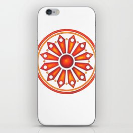 Radial Design Red No. 3 iPhone Skin
