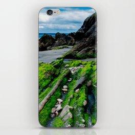 Green beach iPhone Skin