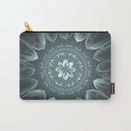 Blossom Within in Platinum Carry-All Pouch