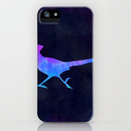 ROADRUNNER IN SPACE // Animal Graphic Art // Watercolor Canvas Painting // Modern Minimal Cute iPhone Case