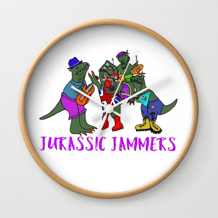 Jurassic Jammers Wall Clock