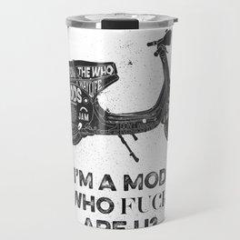 Vespa, mods, calligraphy, graphic Travel Mug