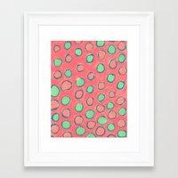 polka dot Framed Art Prints featuring polka dot by Jenni Freidman