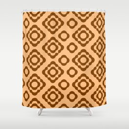 Floral No. 1 -- Orange Shower Curtain