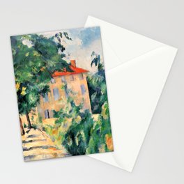 """Paul Cezanne """"House with red roof"""", 1890 Stationery Cards"""