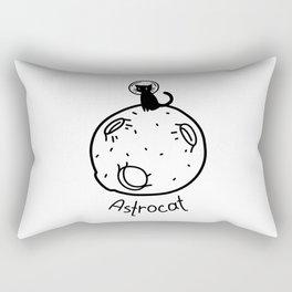 Black astrocat on the moon Rectangular Pillow