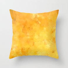 Gold Triangle Pattern Throw Pillow