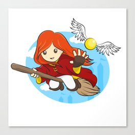 HP - Snitch Catcher - Ginger girl Canvas Print