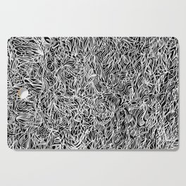White and Black Cutting Board