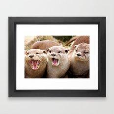 Otter Sequence Framed Art Print
