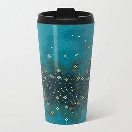 Blue Rift Galaxy (8bit) Metal Travel Mug