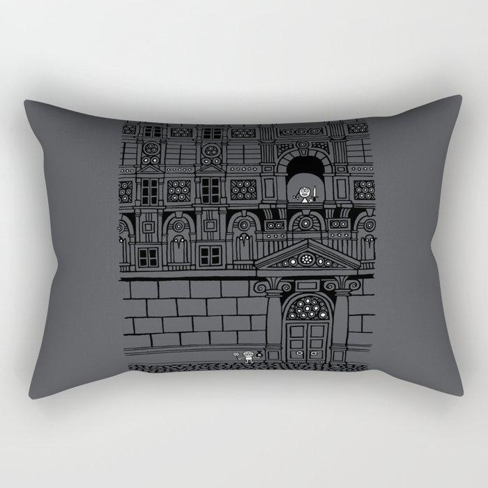 Romeo and Juliet's Penultimate Breath Rectangular Pillow