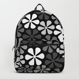 Abstract Flowers Monochrome Backpack