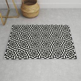 Optical pattern 83 black and white Rug
