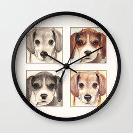 Beagles Cute Painting Design Wall Clock
