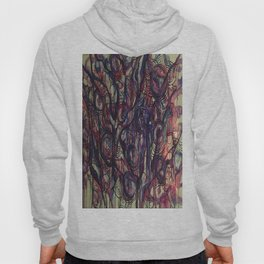 Watercolor Abstract Purple Flower Painting Hoody