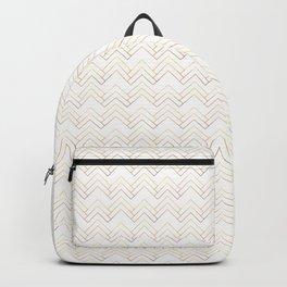 Art Deco Chevron Lines Bg White Backpack