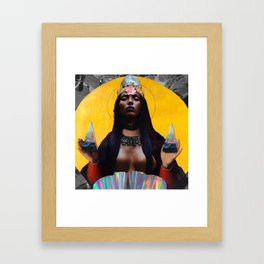 contemporary black madonna Framed Art Print