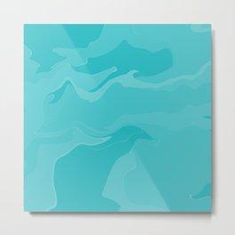Abstract Desert Blues Pattern 36 Metal Print