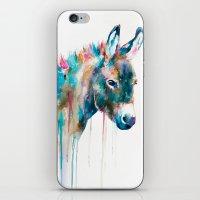 donkey iPhone & iPod Skins featuring Donkey by Slaveika Aladjova