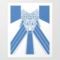 Power Wolf Blue Art Print