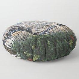 Paris landscape Floor Pillow