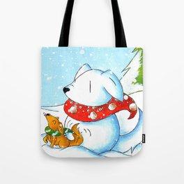 Snowtriever Tote Bag