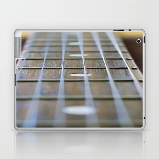 Guitar Neck and Strings Laptop & iPad Skin