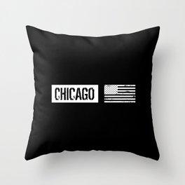 U.S. Flag: Chicago Throw Pillow