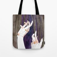 fabric Tote Bags featuring Fabric by Jana Heidersdorf Illustration