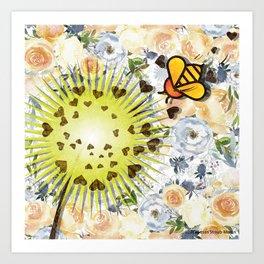 In the Garden - Dandelion Art Print