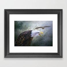 Eagle territory Framed Art Print