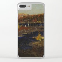 Tom Thomson Autumn Evening, Burnt Land 1912 or 1913 Canadian Landscape Artist Clear iPhone Case