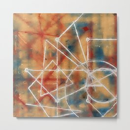 abstract lines - structure of soul  Metal Print